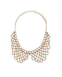 TOPSHOP | Pink Sparkle Peter Pan Collar | Lyst