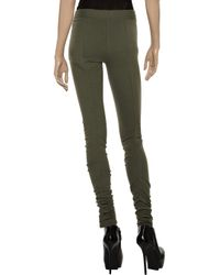 Acne | Green Reiki Ruched Stretch-jersey Leggings | Lyst