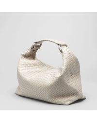 64a6541780 Lyst - Bottega Veneta Shadow Intrecciato Light Calf Sloane Bag in White