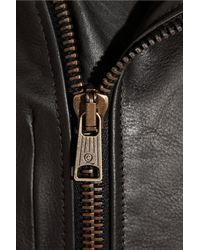 Alexander McQueen | Black Leather Biker Jacket | Lyst