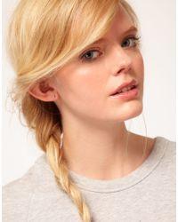Bing Bang - Pink Tiny Skull Stud Earrings - Lyst