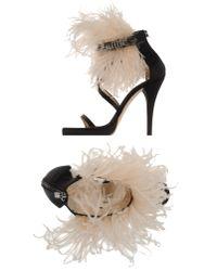 Elisabetta Franchi | Black Platform Sandals | Lyst