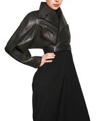 Rick Owens | Black Leather Bolero Jacket | Lyst