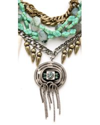 DANNIJO | Blue Fielding Necklace | Lyst