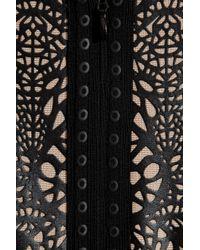 Hervé Léger | Black Rubbereffect Bandage Dress | Lyst