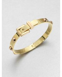 Michael Kors | Metallic Studded Buckle Bangle Braceletrose Goldtone | Lyst