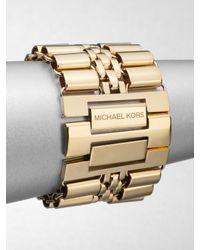 Michael Kors | Metallic Tube Link Bracelet | Lyst