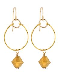 Gorjana | Metallic Prism Bead Hoop Earrings | Lyst