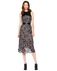 Michael Kors   Black Fuzzy Lace Dress   Lyst
