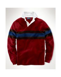 Featured Ralph Lauren Red Clic Fit Striped Rugby Shirt
