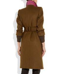 Sonia by Sonia Rykiel | Brown Double Breasted Wool Blend Coat | Lyst