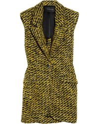 Thakoon | Yellow Sleeveless Wool-blend Tweed Blazer | Lyst