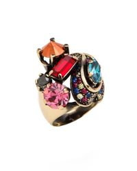 Iosselliani - Multicolor Crystals Ring - Lyst