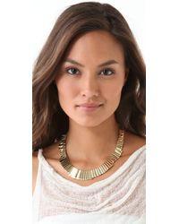Belle Noel - Metallic Gold Bars Necklace - Lyst