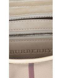 Burberry - Gray Small Smoked Check Hobo Bag - Lyst