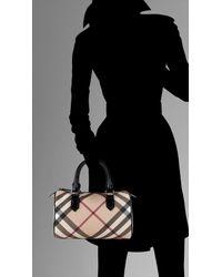 Burberry - Black Medium Nova Check Bowling Bag - Lyst