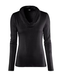 H&M | Black Polo-neck Top | Lyst