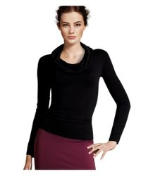H&M - Black Polo-neck Top - Lyst