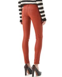 James Jeans | Red Twiggy Slicked Super Skinny Jeans | Lyst