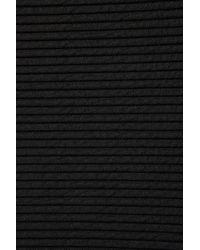 TOPSHOP - Black Twist Rib Skater Dress - Lyst