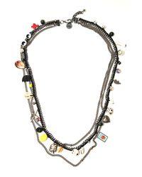 Venessa Arizaga - Metallic Charmed Memories Necklace - Lyst