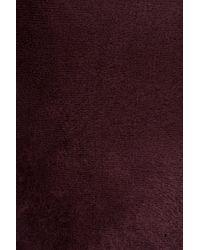 Alaïa | Brown Velours Round Neck Dress | Lyst