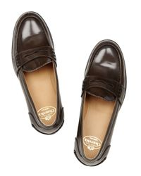 Church's   Brown Sally Leather Penny Loafers   Lyst