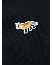 Maison Kitsuné   Black Irregular Stripe Cotton-piqué Polo Shirt for Men   Lyst