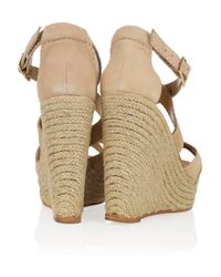 Paloma Barceló - Natural America Suede Espadrille Wedge Sandals - Lyst