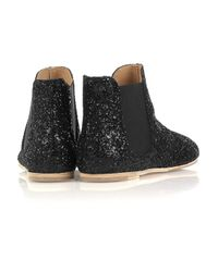 Pedro Garcia - Black Gwen Glitter-finish Leather Ankle Boots - Lyst