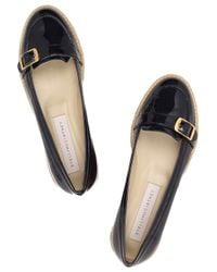 Stella McCartney - Blue Faux Patent-leather Loafers - Lyst