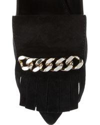 Saint Laurent | Black Opyum Embellished Suede Pumps | Lyst