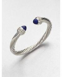 David Yurman - Blue Lapis Sterling Silver Bangle Bracelet - Lyst