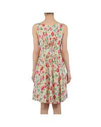 Aspesi | Green Printed Silk Pleated Dress | Lyst