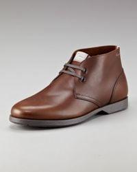 Ferragamo | Brown Metro 2 Chukka Boots for Men | Lyst
