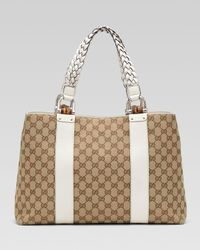 Gucci | Natural Bamboo Bar Medium Tote | Lyst