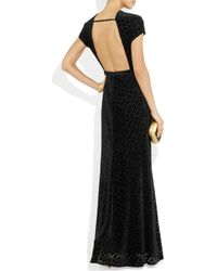 Issa | Black Backless Velvet Gown | Lyst