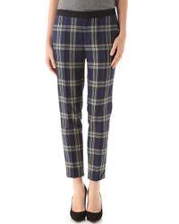 Juicy Couture | Blue Eton Plaid Pants | Lyst