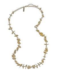 Kendra Scott | Gray Long Petal Necklace | Lyst