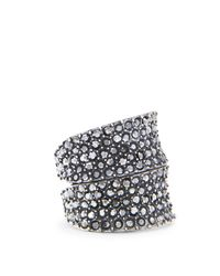 Mango | Metallic Touch Crystal Embellished Ring | Lyst