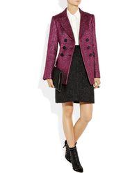 Marc Jacobs | Purple Metallic Bouclé Wool Blend Jacket | Lyst