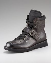 Prada | Black Hiker Boot for Men | Lyst
