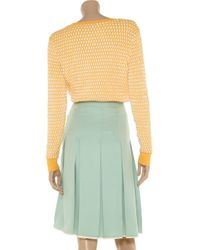Jill Stuart | Green Gabriella Pleated Silkcrepe Skirt | Lyst