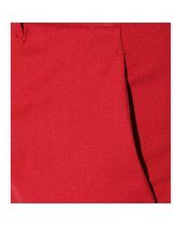 Miu Miu | Red Cropped Trousers | Lyst