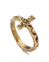 House of Harlow 1960 - Metallic Faceted Cross Ring - Lyst