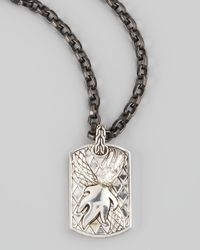 John Hardy | Brown Naga Tag Chain Necklace | Lyst