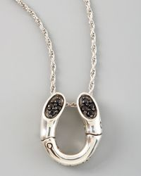 John Hardy - Metallic Bamboo Horseshoe Pendant Necklace - Lyst