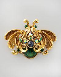 Jose & Maria Barrera | Multicolor Crystal Bug Brooch | Lyst