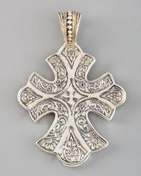 Konstantino | Metallic Sterling Silver Filigree Cross Pendant | Lyst