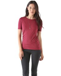 Lot78 - Red Scoop Neck Tee - Lyst